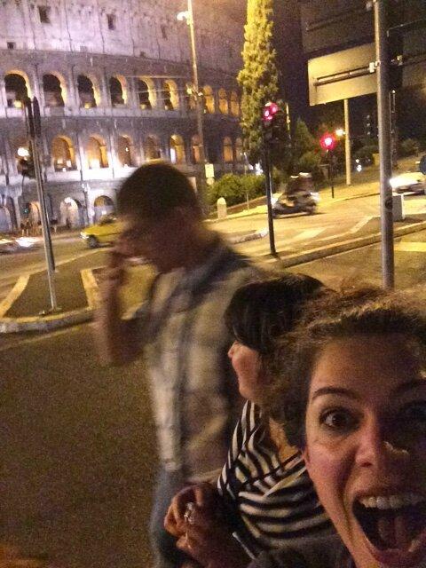 Stage à Rome: dernière ballade en soirée au Colisée (6 juin 2014)