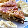 Galette des rois frangipane, banane et chocolat