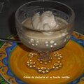 Crème de rhubarbe et sa touche vanillée.