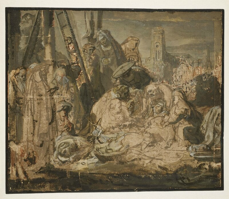 Rembrandt, 'Lamentation over the Dead Christ', about 1634-1635