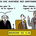 Réunion des ministres des finances des g20 : vers une synthèse des contradictions . .