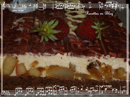 gâteau entremets choco marrons poires2