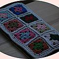 pochette mini granny au crochet laine DMC