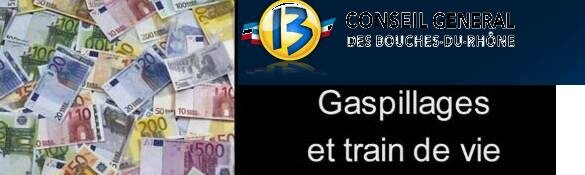 Gaspillage et train de vie - CG13