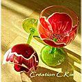 Verres coquelicots de la ligne flora copyright © c.kim