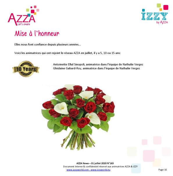 Mise à l'honneur Azza 10 ans