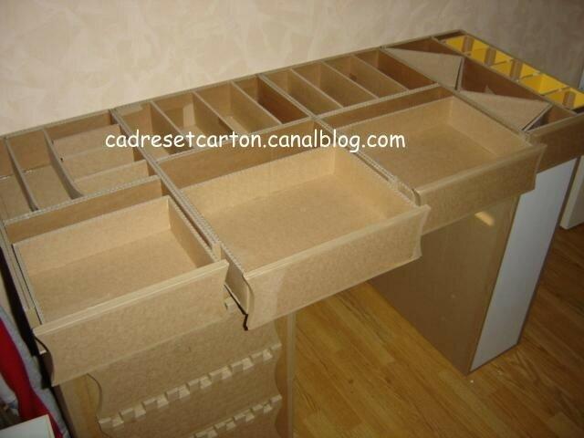 Bureau En Carton : Le plateau du bureau en carton tutorial les cadres et