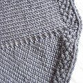 détail bordure point de riz de la pinwheel baby blanket
