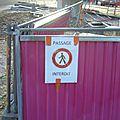 7° parcours à pied du chantier du tram....