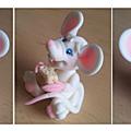 Mini souris blanche