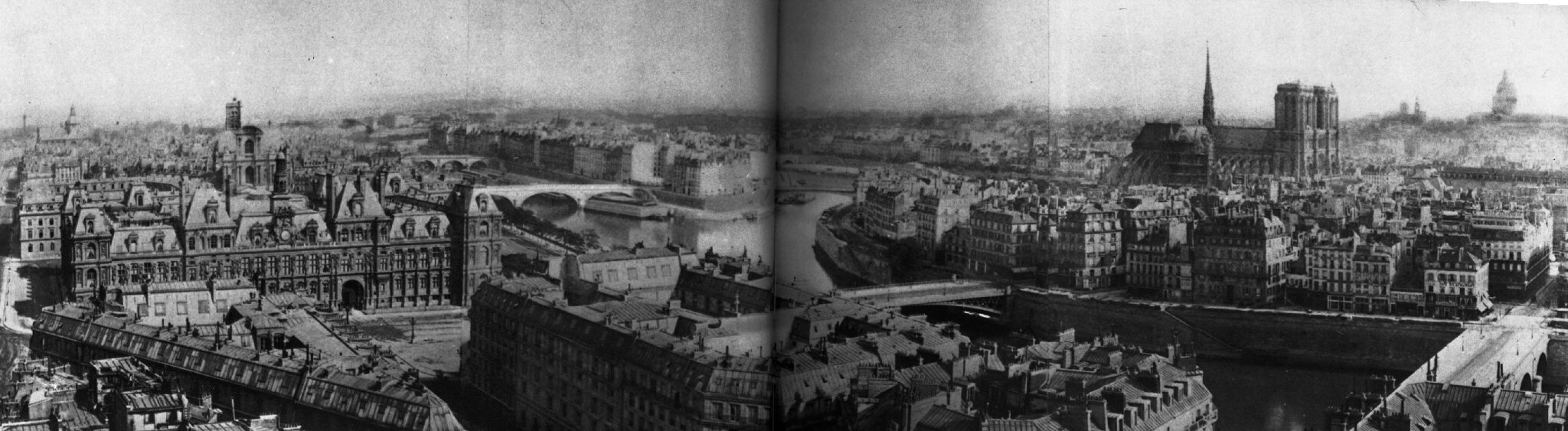 1864 Panorama du coeur du vieux Paris,