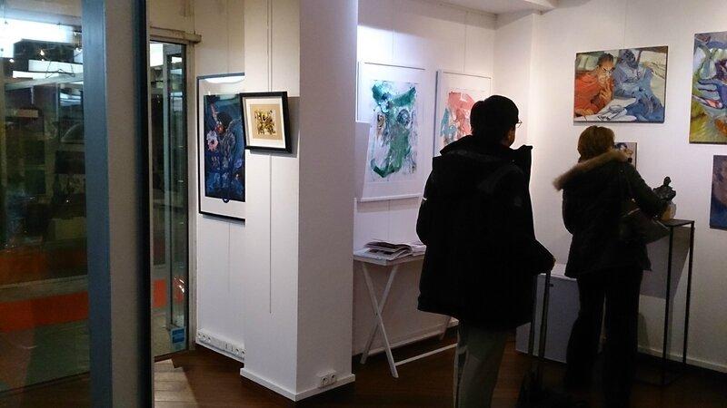 L'un des espaces de la Galerie BDMC accueillant mes réalsiations entre autres