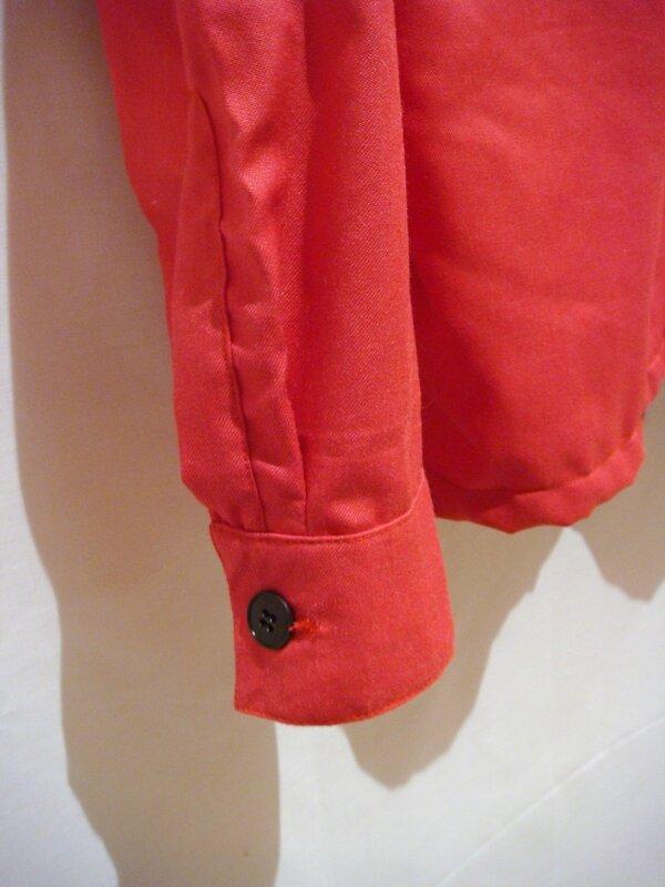 Chemise rose Kermel pate capucin et poignet à soufflet