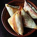 Bricks/ samosas viande hachée et pommes de terre au garam massala