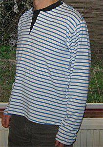 jersey coton rayé blanc bleu (épuisé)