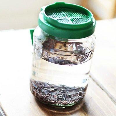 bocal à germer couvercle plastique