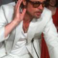Brad Pitt à la fin de la conférence de presse