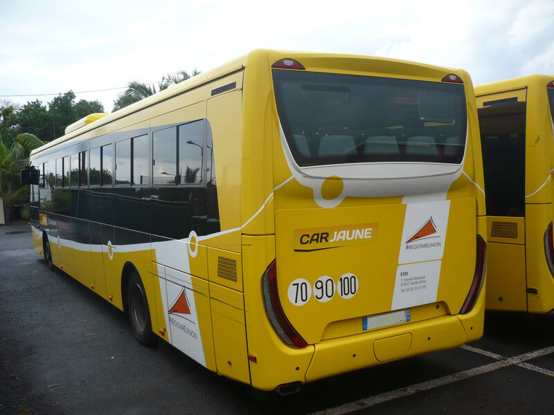 IVECO Crossway Low Entry autobus Car Jaune 2015 Sainte Anne (2)