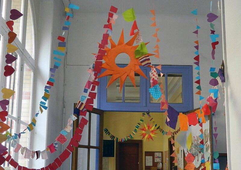 centre de loisirs,vacances,été avec les enfants,activité pour les enfants,décoration pour enfants,origami,origami soleil,guirlande en papier,activité pour enfant 7