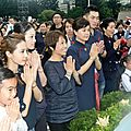 Jolin attends the buddha bathing ceremony in taipei