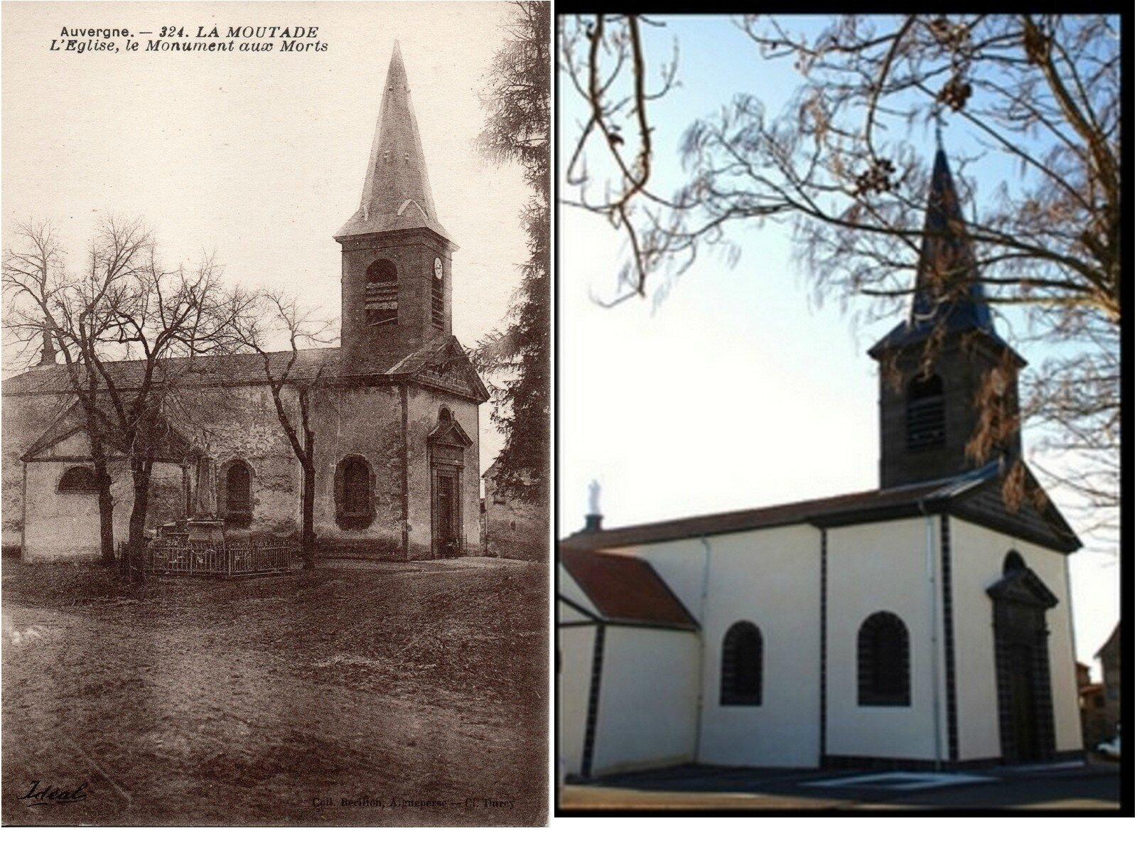 Eglise avant-après