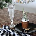 Le dessert de noël : la mousse au chocolat au romarin ou le trompe l'oeil du mini plant de sapin