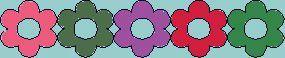 5 fleurettes