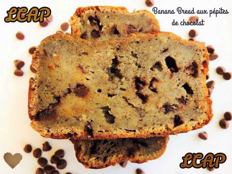 banana bread aux pépites de chocolat- la cuisine d'anna purple