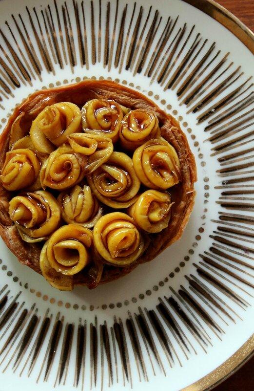tarte pommes bouquet de roses4