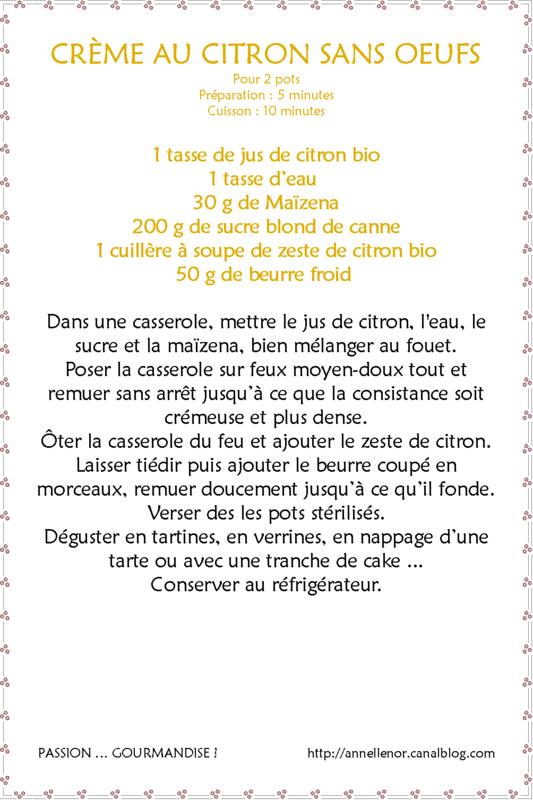 Crème au citron sans oeufs_fiche