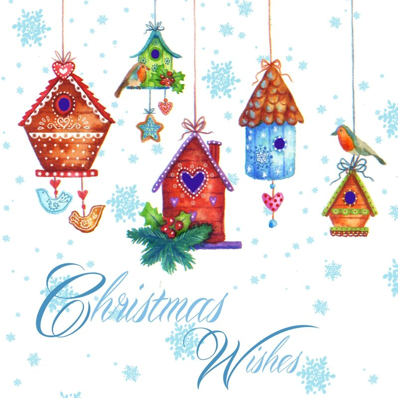 christmas birdhouses3+