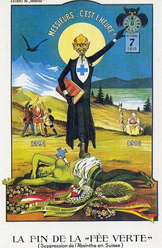Interdiction fée verte suisse - 1910