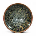 A small Shanxi black-glazed 'oil-spot' bowl, Northern Song-Jin dynasty (960-1234)