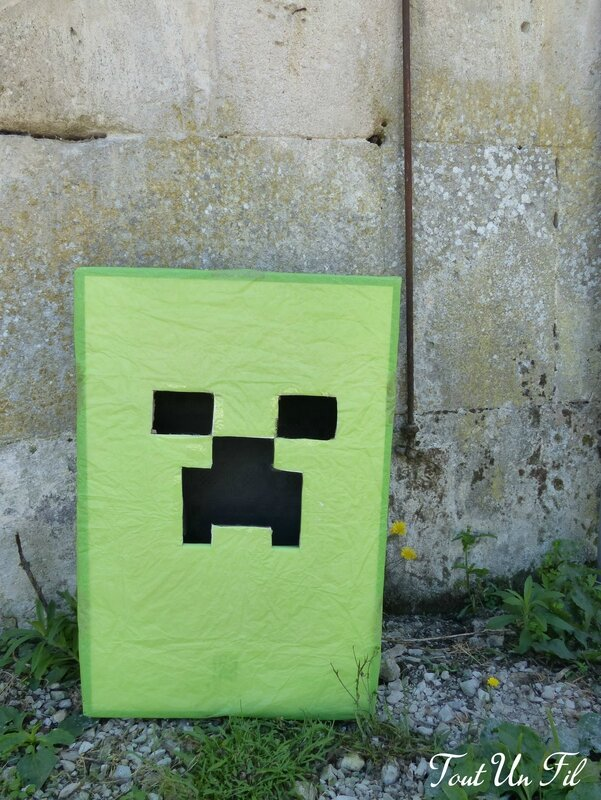 DIY Creeper Minecraft Anniversaire
