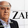 Amancio ORTEGA, homme d'affaires, créateur zara,usurpé