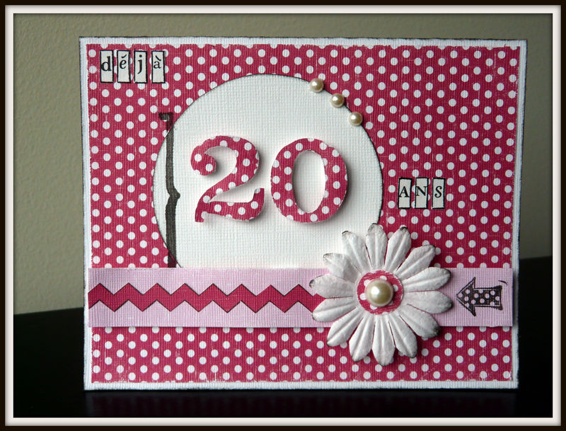 Carte Anniversaire 20 Ans Photo De Cartes Scrap Scrapbooking Memories