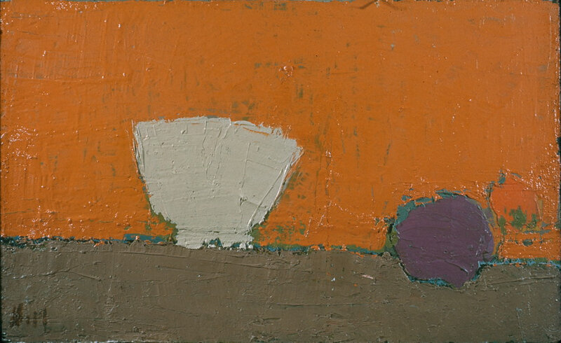 Nicolas de Staël, Bol Blanc, 1953, huile sur toile, 32,3 x 54,6 cm, CR 750, Cincinnati Art Museum, Bequest of Mary E. Johnston, 1967. 1108