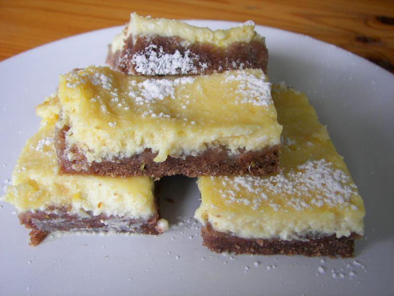Carrés citron/chocolat