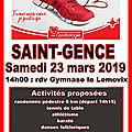 Parcours du coeur à saint-gence : samedi 23 mars 2019, rdv 14h00