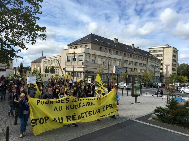 Saint-Lô manifestation anti EPR nucléaire septembre 2017 CAN Ouest défilé