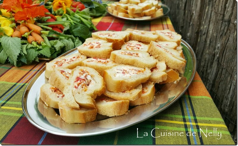 Baguette Apéro Chorizo chèvre Poivron rouge 2