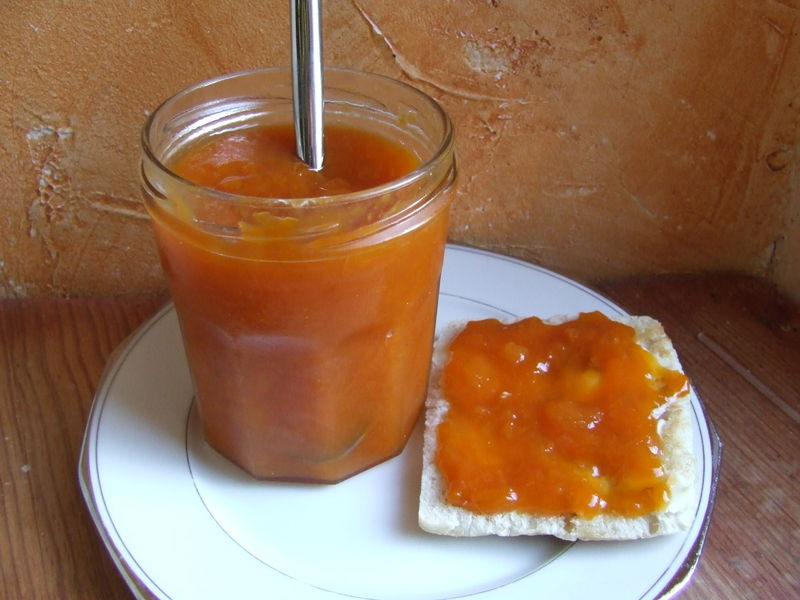 confiture abricot rhubarbe