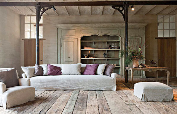 Designer-Architect Bernard de Clerck farmhouse restoration, image via Corvelyn e1 as seen on linenandlavender