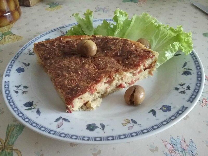 Quiche aux lardons fromagés et au lait de coco 2