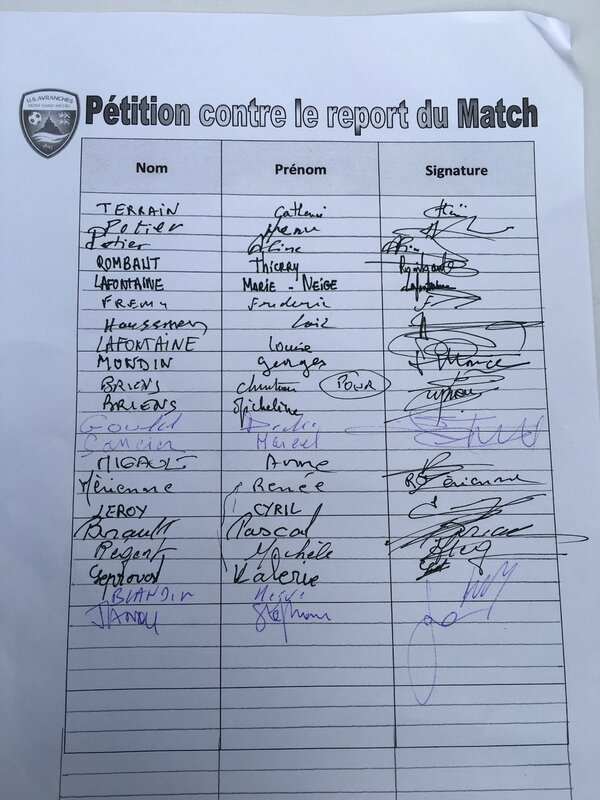 report du match Avranches PSG Coupe de France 1er avril 2017 pétition