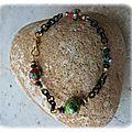 Bracelet en perles cloissonées (Br28)