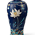 A fahua 'lotus' vase, meiping, ming dynasty (1368-1644)