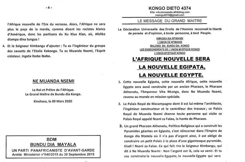 L'AFRIQUE NOUVELLE SERA LA NOUVELLE EGIPATA, LA NOUVELLE EGYPTE a