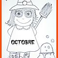 Coloriage d'octobre