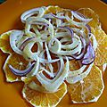 Carpaccio de fenouil a l orange